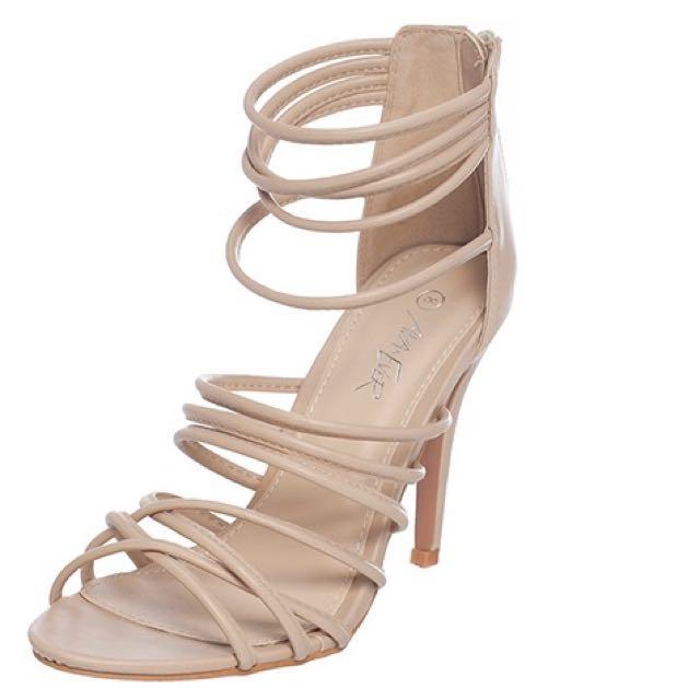 Ava & Ever Marisa Nude Strappy Heels (BNWT)