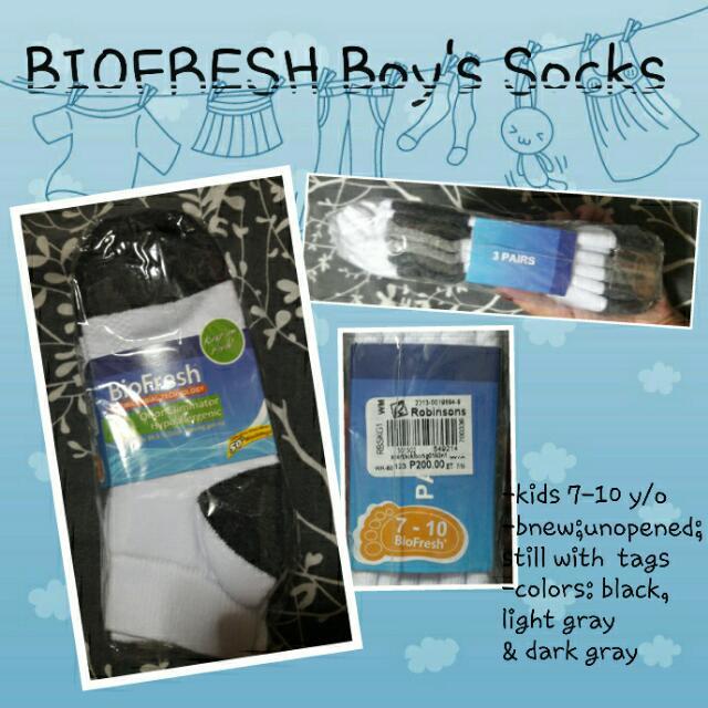 Biofresh Boys' Socks