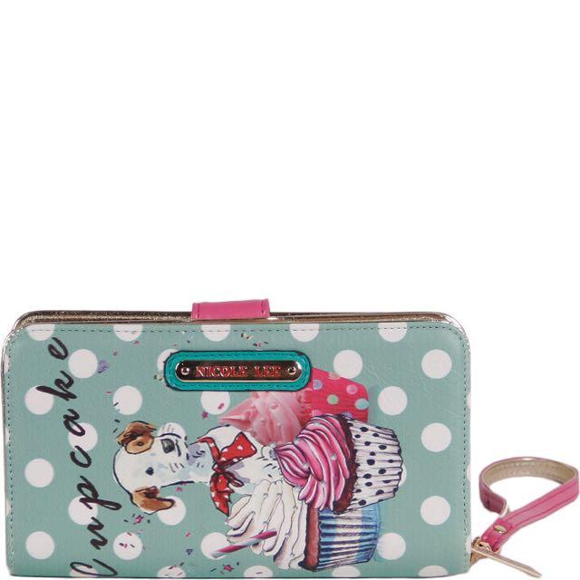 BNWT Nicole Lee Cupcake Puppy Wallet/wristlet