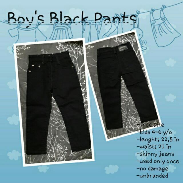 Boys' Black Pants