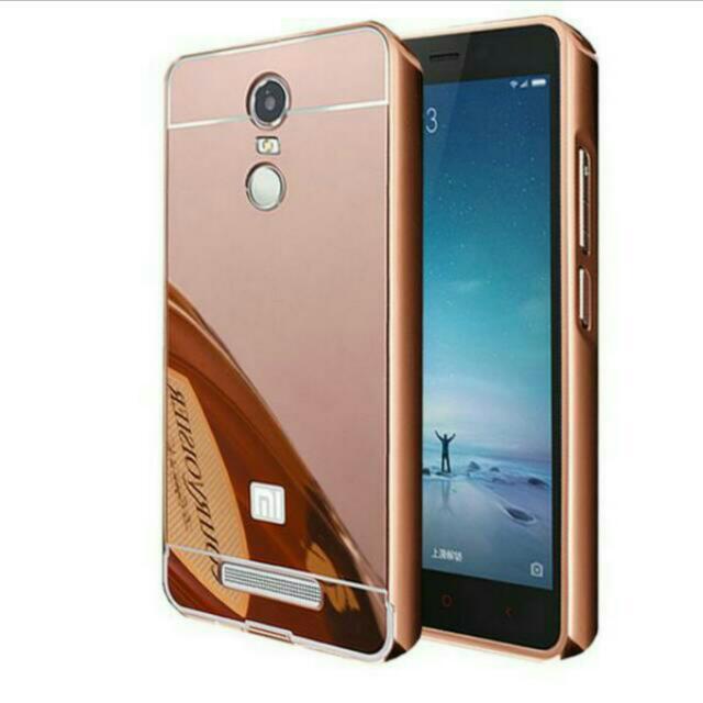 BARTER! Case Xiaomi Redmi Note 3 / Backcase Mirror Redmi Note 3 - Rose Gold