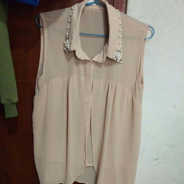 Chifon Beige With Pearl