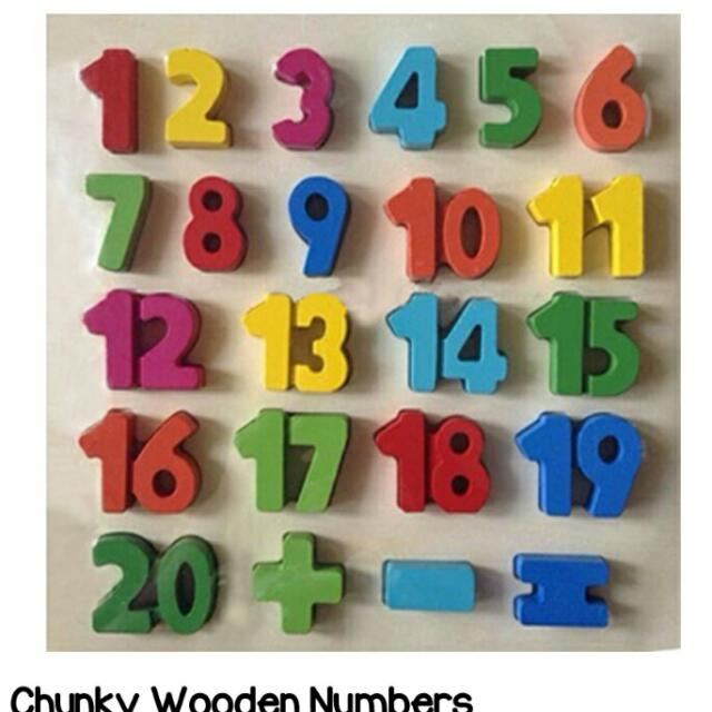 Chuncky Wooden Alphabet N Numbers
