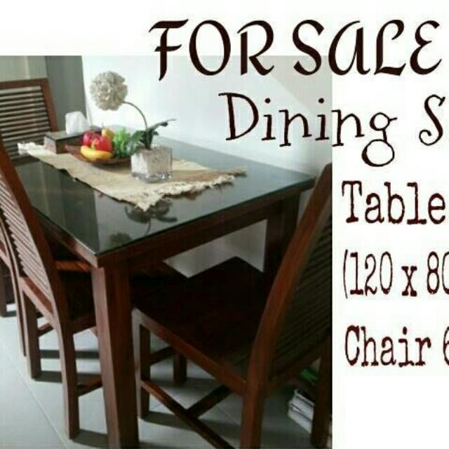 Dining Set (Table & 6 Chairs)