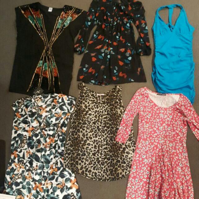 Dresses,high-waisted jeans,tops etc