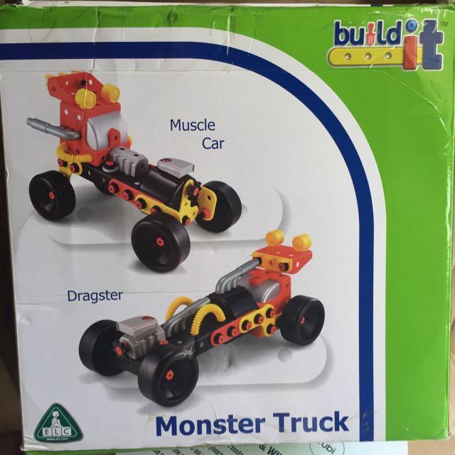 elc build it monster truck toys games bricks. Black Bedroom Furniture Sets. Home Design Ideas