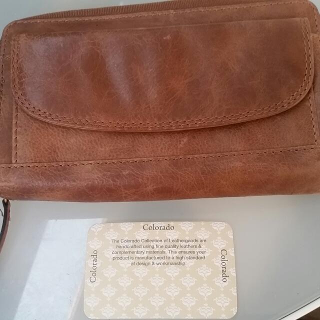 PRICE DROP Genuine Leather Colorado Clutch