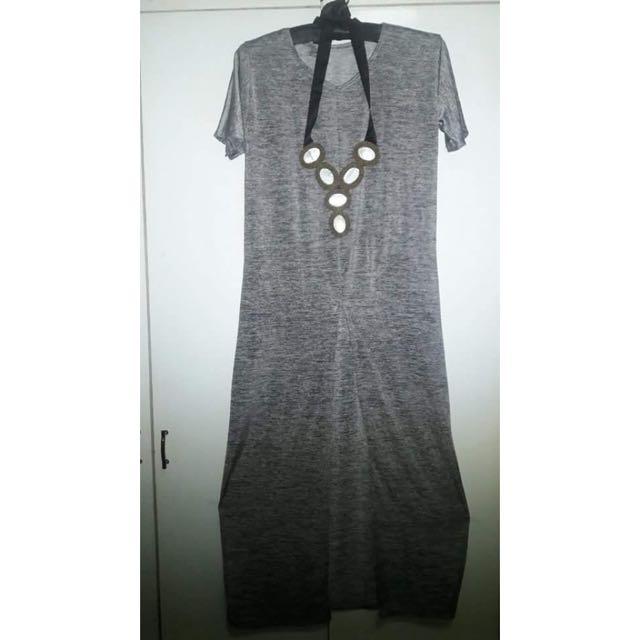 Gray Long Dress