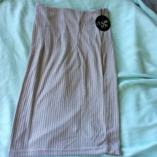 Grey Knit Skirt-new w/ Tags