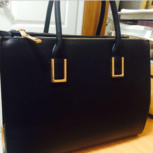 H&M黑色手提&肩背包