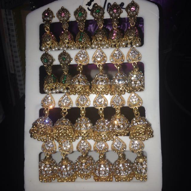 Indian Earrings Jhumka Bollywood