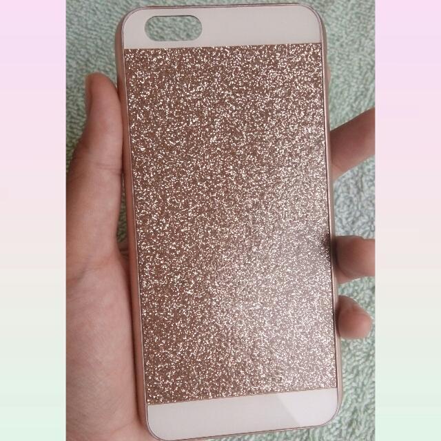 Iphone 6 Glitter Case (Rose Gold)