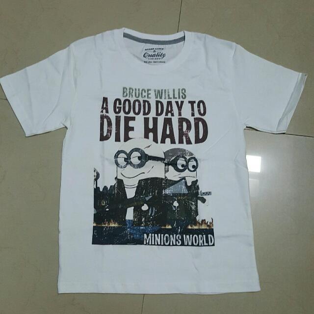 kaos minions die hard edition(100% catoon tshirt)