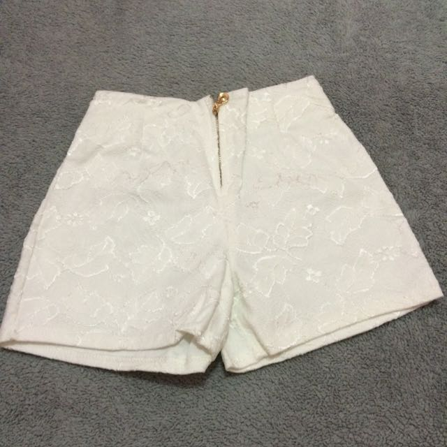 Lace White Pants