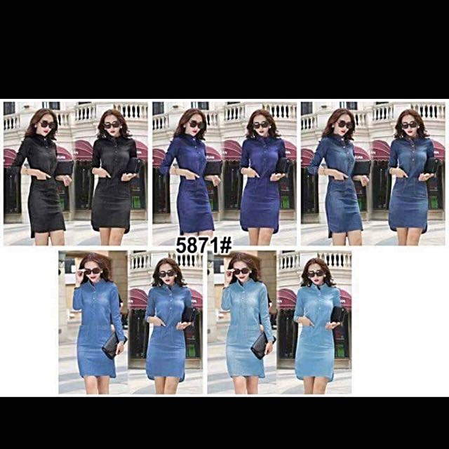 Longsleeve Denim formal Dress Slim Fit