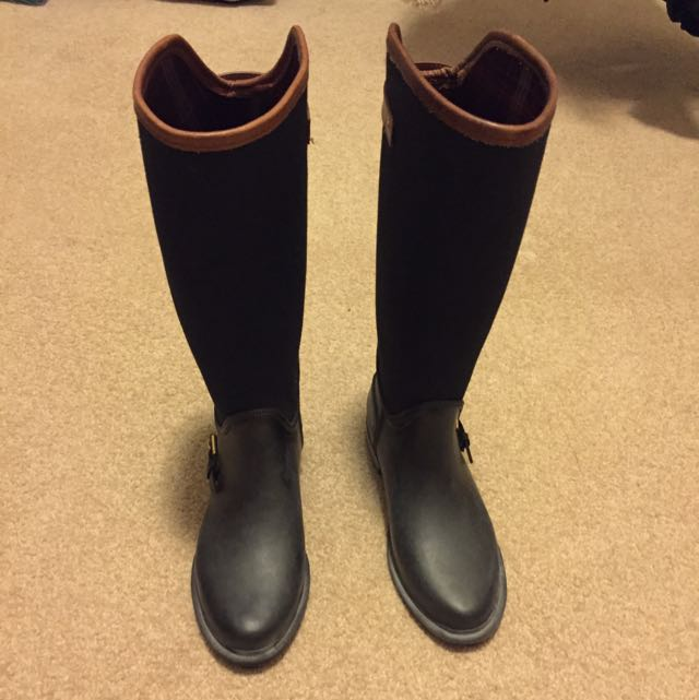 Massimo Dutti Combined Wellington Boot - Size 7