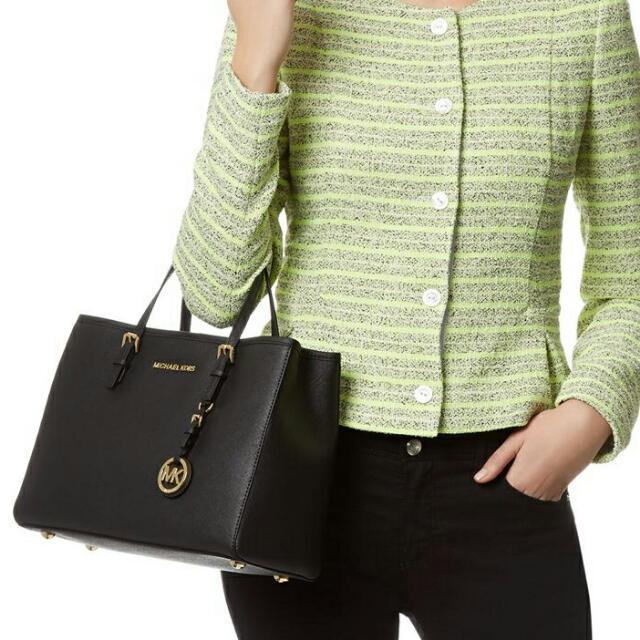 ba8232e87 Michael KORS JET SET MEDIUM TOTE BAG, Women's Fashion, Bags ...
