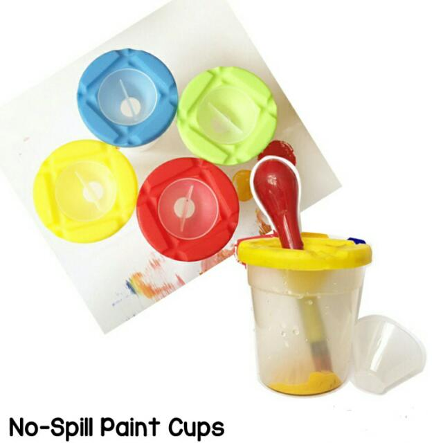 No-spill Paint Cups