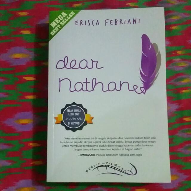 REPRICE!! Novel Dear Nathan (Cover Terbaru)