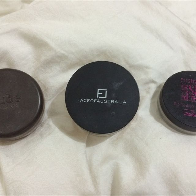 Nude Foundation Powder, Face Of Australia Setting Powder & Australias Setting Powder