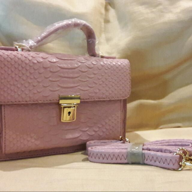 Pink Leathered Bag