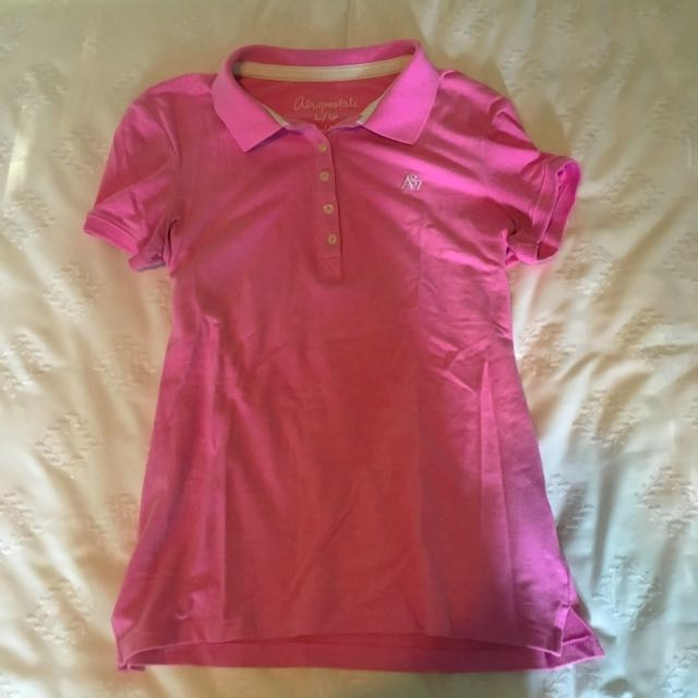 Pink Stretch Polo Shirt