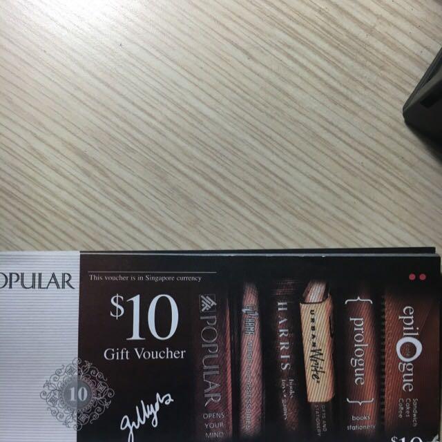 Popular Voucher $20x5