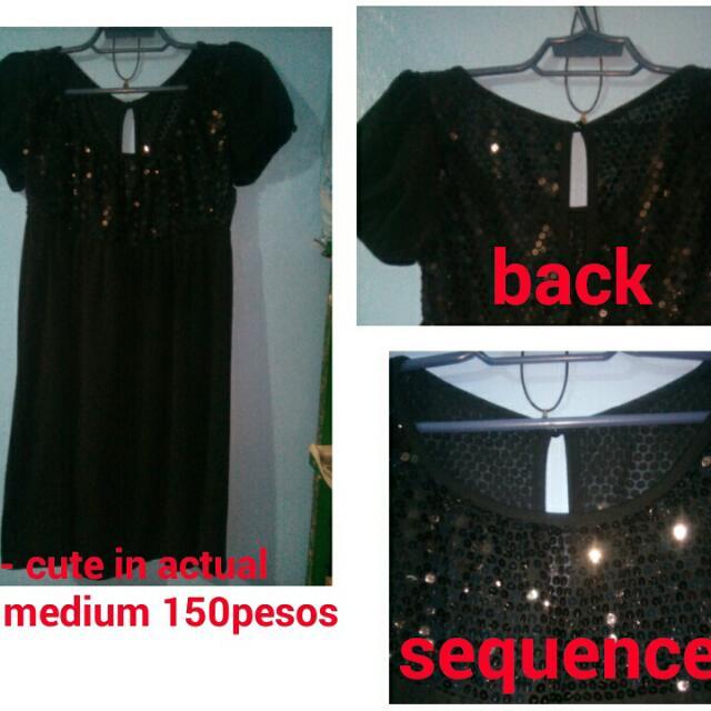 Preloved Black dress w/ sequence
