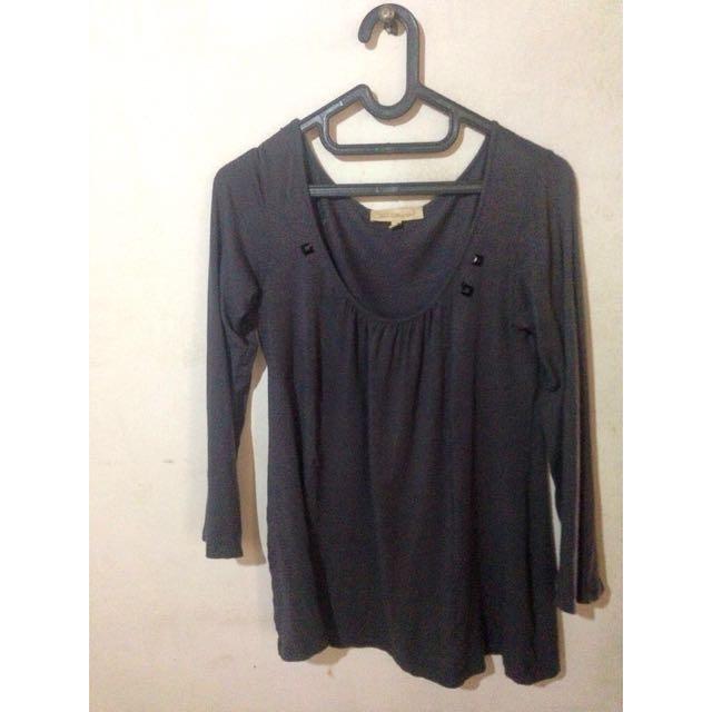 Preloved-Longshirt Grey