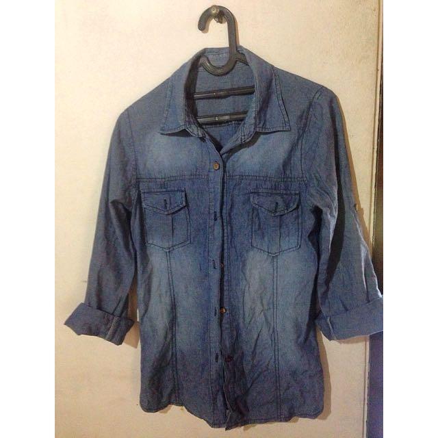 Preloved-Longshirt Jeans