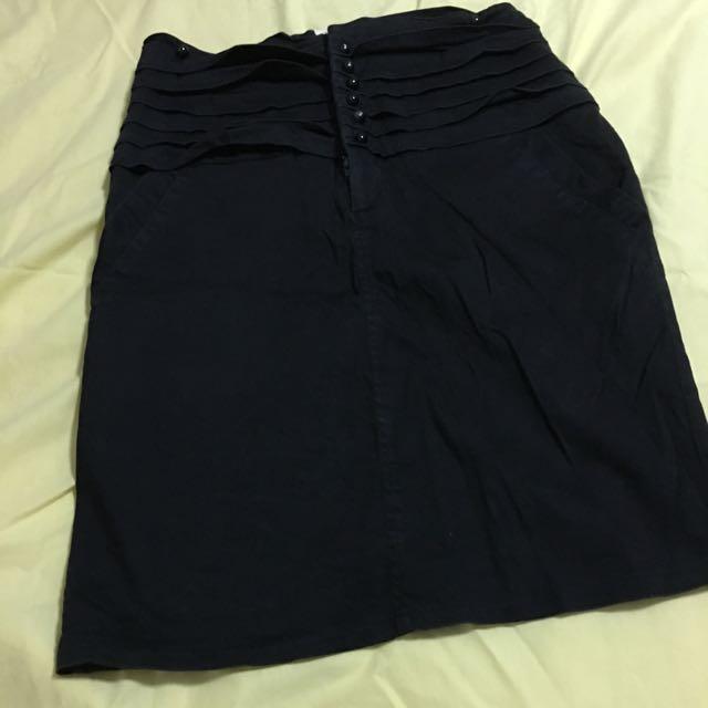Rok Hitam Black Skirt Formal Span M