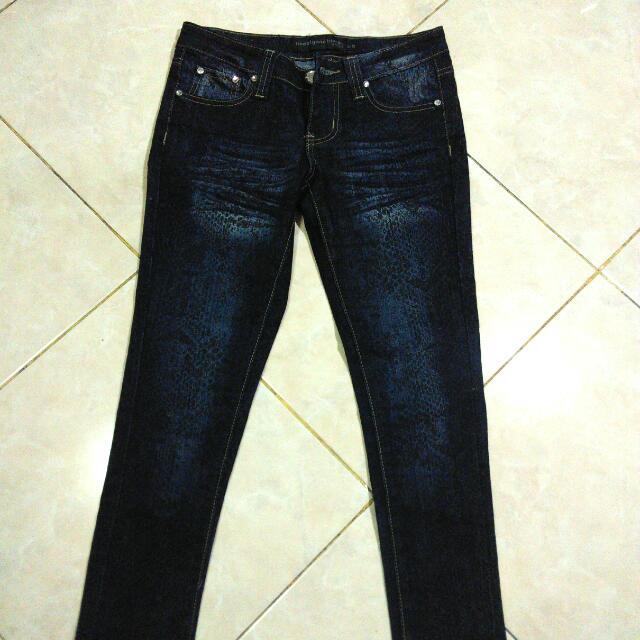Rue21 Snake Skin Slim Fit Jeans