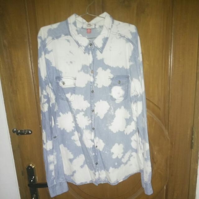 Semi-denim Long Shirt