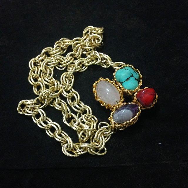 Sideways Long Necklace