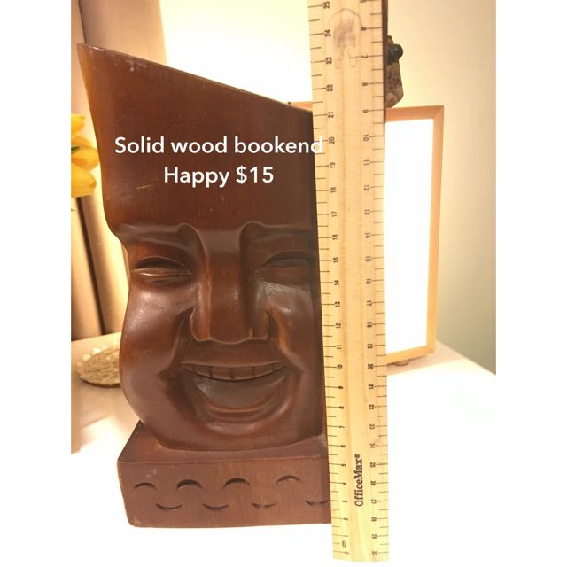 Solid Wooden Bookend