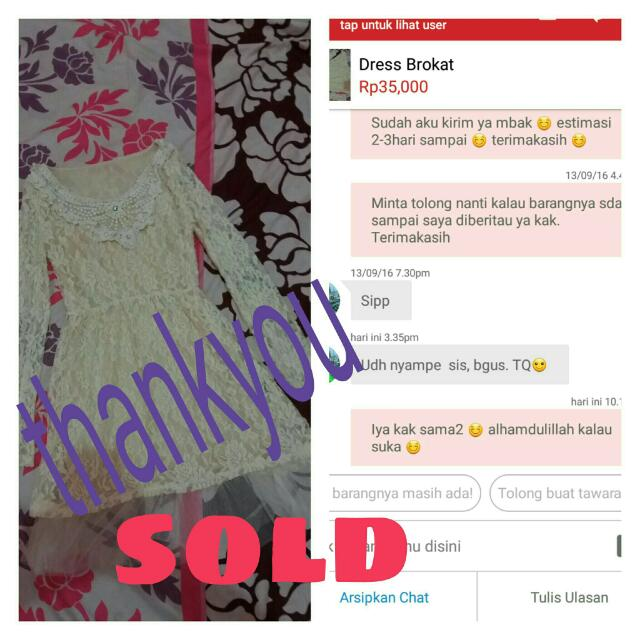 Thankyou Sold 😊ditunggu Orderannya Lagi 😊