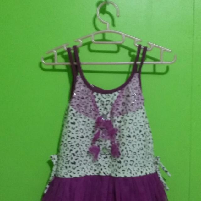 Tutu Violet Dress
