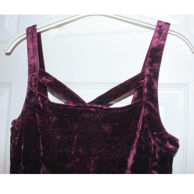 Velvet Fit-Flare Tank Dress
