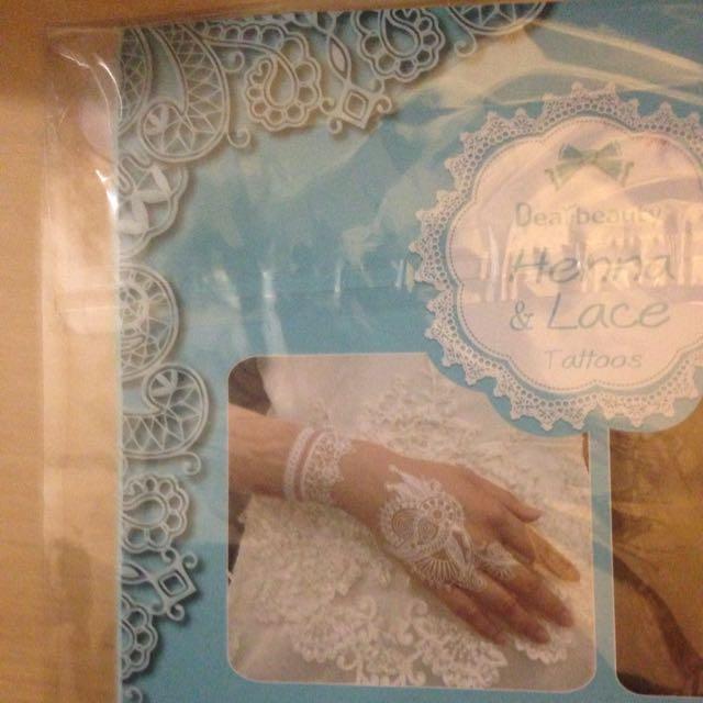 White Henna Mehendi Temporary Transfer Tattoos