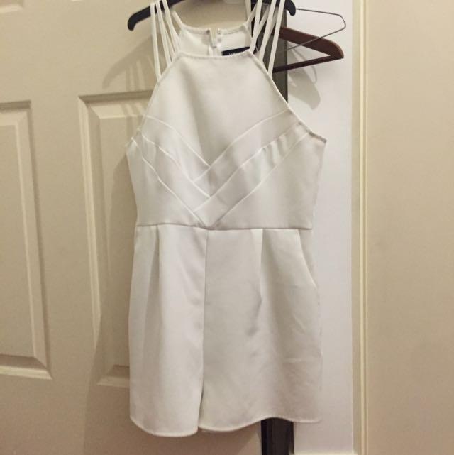 White Valleygirl Jumpsuit