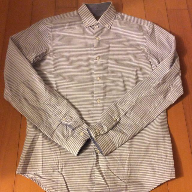 Zara 橫條紋襯衫