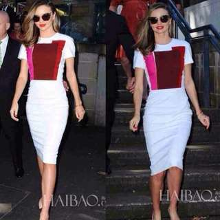 Maxi Dress Motif Abstract Victoria Beckham Look-a-like