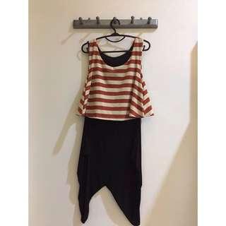Stripe Dress (Red & Gold)