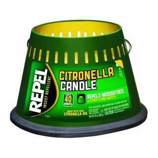 Made in USA - Triple Strength! Mosquito Zika Dengue Citronella Repellent Outdoor Candle - 590 ml