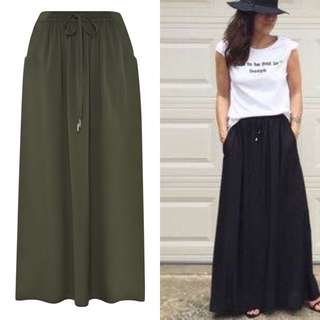 Maxi Skirt With Side Front Pocket