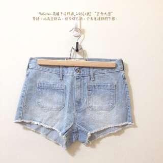 Hollister-微高腰牛仔短褲熱褲_W25(1號)