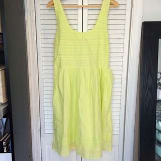 Old Navy Yellow Lime Summer Dress Size L