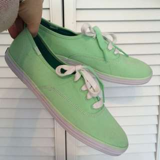 Keds Mint Green Sneakers Size 8