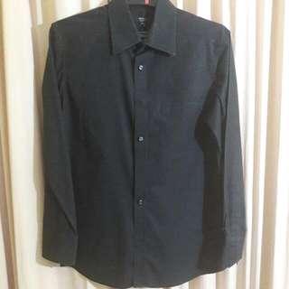 G2000 Man Shirt / Kemeja Hitam Pria Lengan Panjang