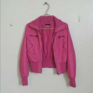 🔴Pink Leather Jacket